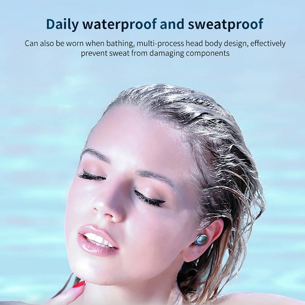 TWS Digital Bluetooth 5.0 Wireless 9D Stereo Headset