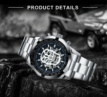 Load image into Gallery viewer, Luminous Waterproof Skull Mechanical Watch