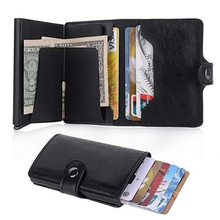 Load image into Gallery viewer, Leather RFID Secure Cash and Cards Wallet - Holds lots of cards and cash