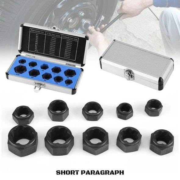 Bolt and nut extractor (10 items / set)