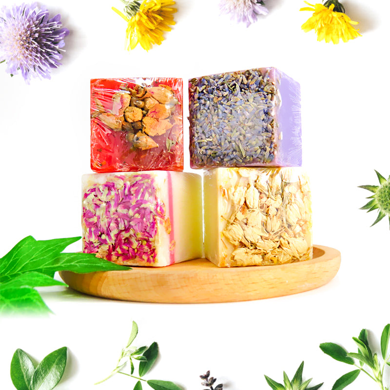 Certified Organic Soap For Face & Body. Luxurious Quartet Set of 4 pieces (AU Stock)