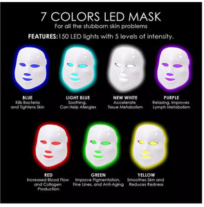iAgeless Photon LED Light Therapy Mask (Face & Neck) 7 Colours (AU Stock)