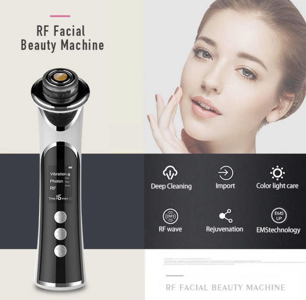 COMBO DEAL iAgeless RF Radio Frequency Photon Face & Skin Rejuvenation Beauty Device + Ultrasonic Ion Deep Cleansing Exfoliation Device (AU Stock) - PuriFresh