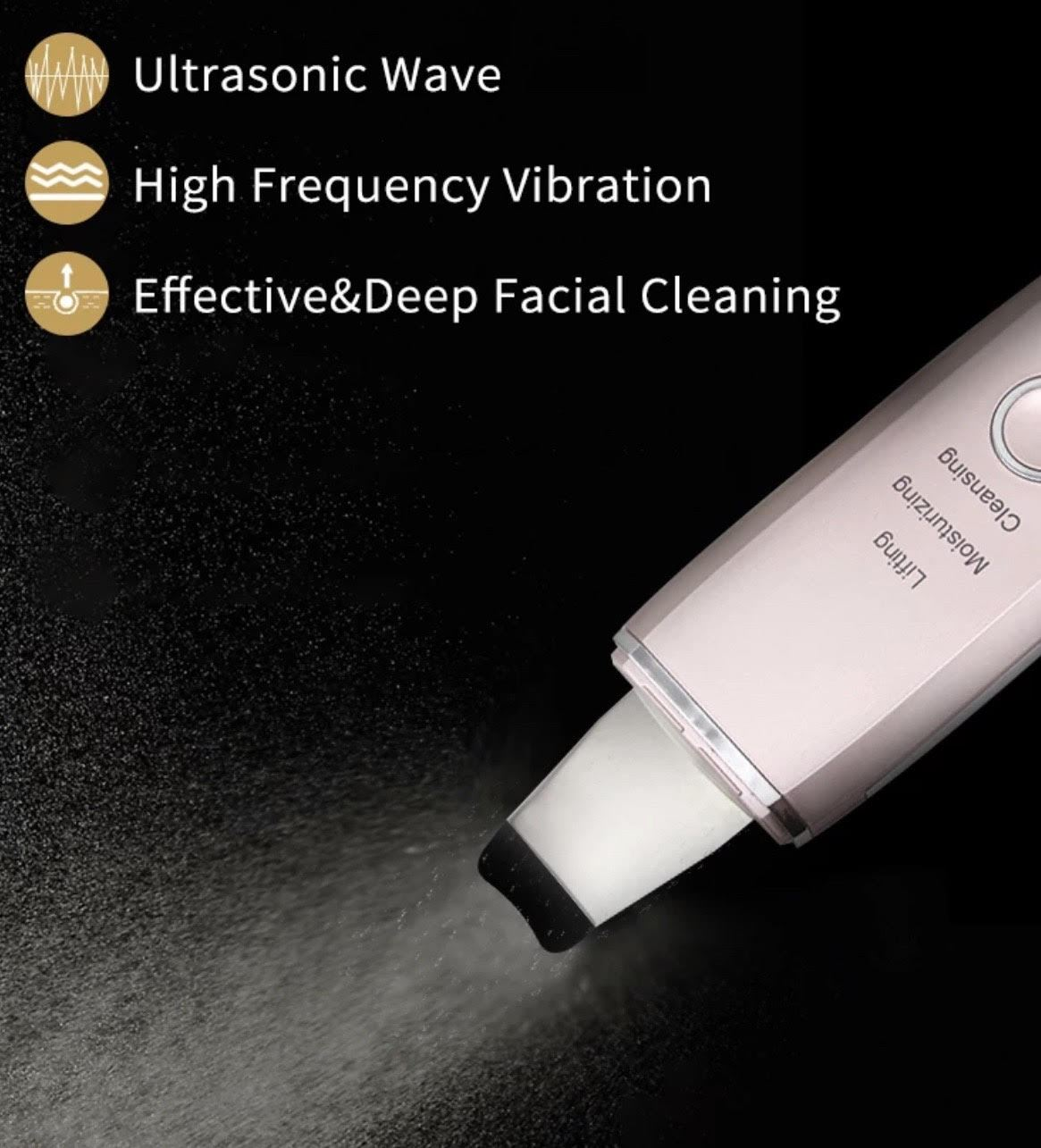 iAgeless 24,000Hz/sec Professional Ultrasonic High Frequency Deep Cleaning Blackhead Remover Face Lifting & Exfoliation Device (AU Stock) - PuriFresh