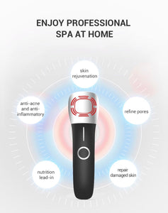 Patented Smart Photon Infrared LED Light Therapy High Frequency Vibration 12,000times/min Hot Cold Galvanic Device (AU Stock)