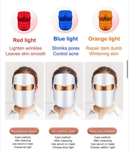 iAgeless Photon LED Light Therapy Face Mask (Wireless) ~ Three Therapeutic Red, Blue & Yellow Lights (AU Stock)