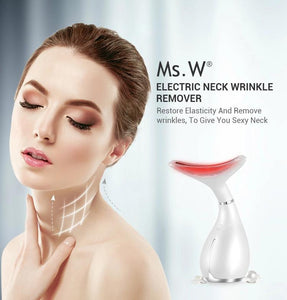Patented Multi-function Ultrasound Neck Wrinkle, Decolletage & Face Care Beauty Device (AU Stock)