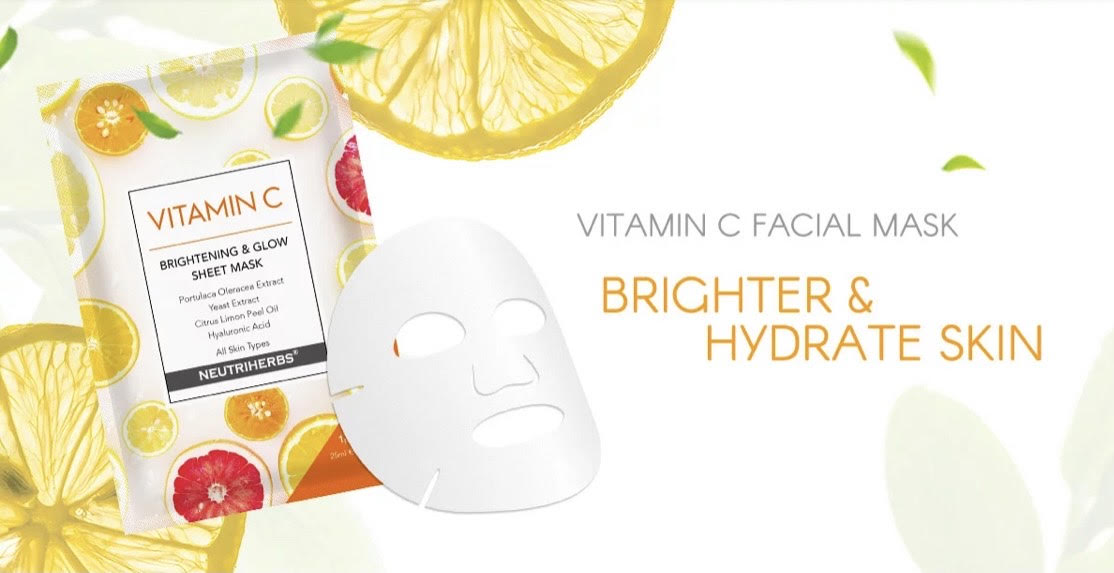 Vitamin C Face Sheet Mask ~ 2 Boxes (10pcs) (AU Stock)