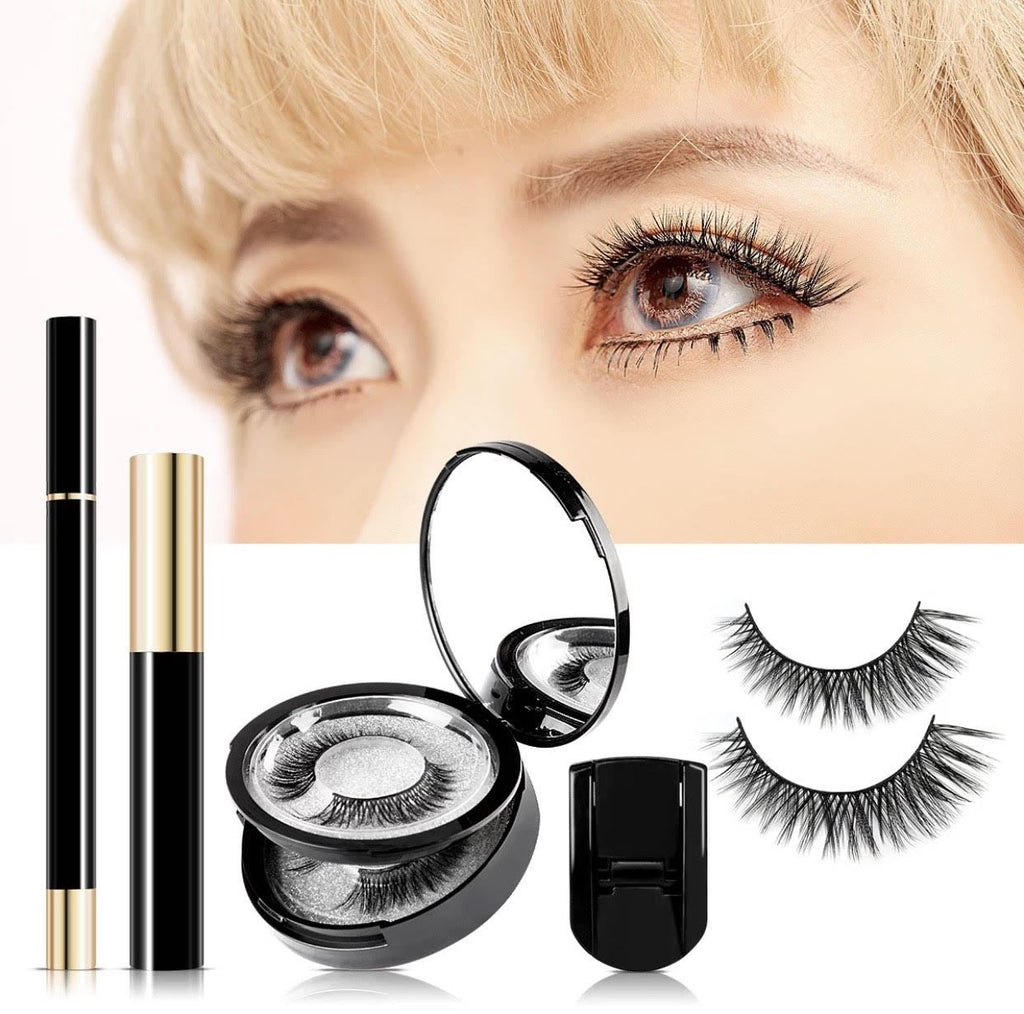 No Glue! No Magnets! iAgeless Magic Eyelash Kit (3 Pairs) + Patented Magic Liner + Mascara + Eyelash Curler (AU Stock) - PuriFresh