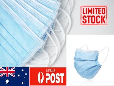 Box of 50 Pcs 3-Ply Disposable Protective Face Mask (Melbourne AU Stock ~ 24-Hrs Dispatch) - PuriFresh
