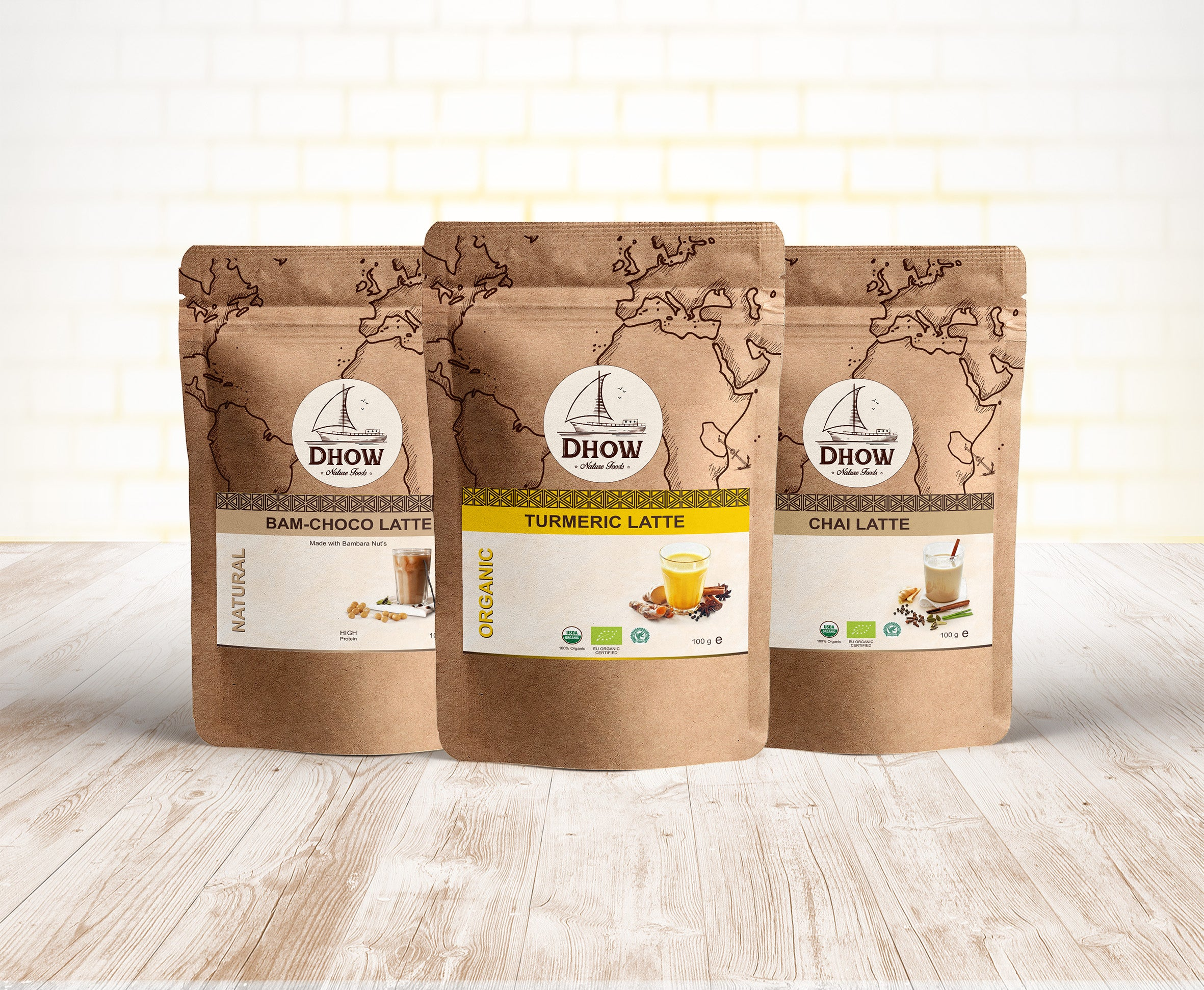 Latte Bundle (Chai Latte, Turmeric Latte & Bam Choco Latte)