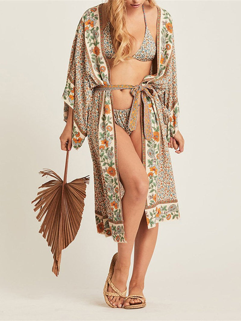 Printed Sunscreen Beach Cover-ups