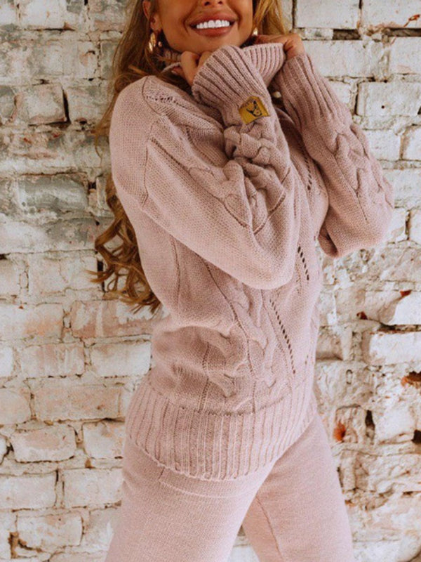 OVERSIZED SWEATER SUIT , Knitted suit for women, Everyday warm winter suit NEllI