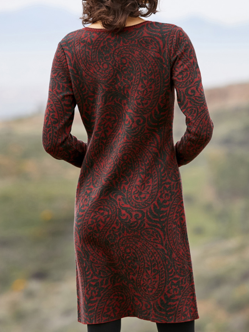 Fashion Printed Long Sleeve Dress