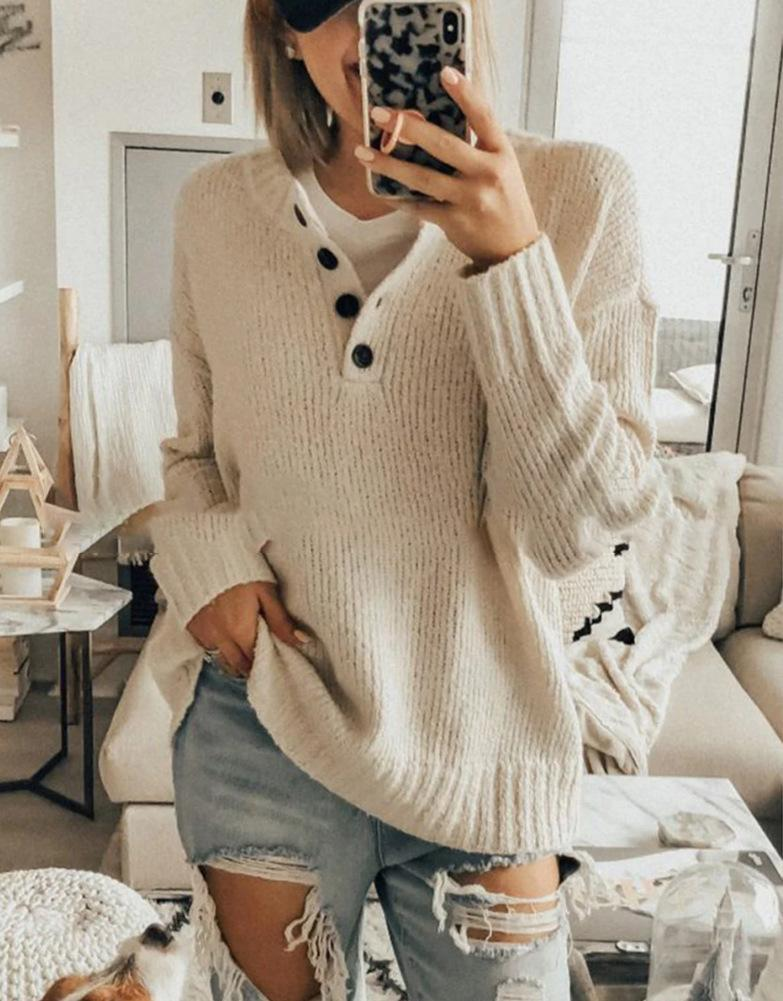 Fashion Long Sleeve Casual Shirt Button Top