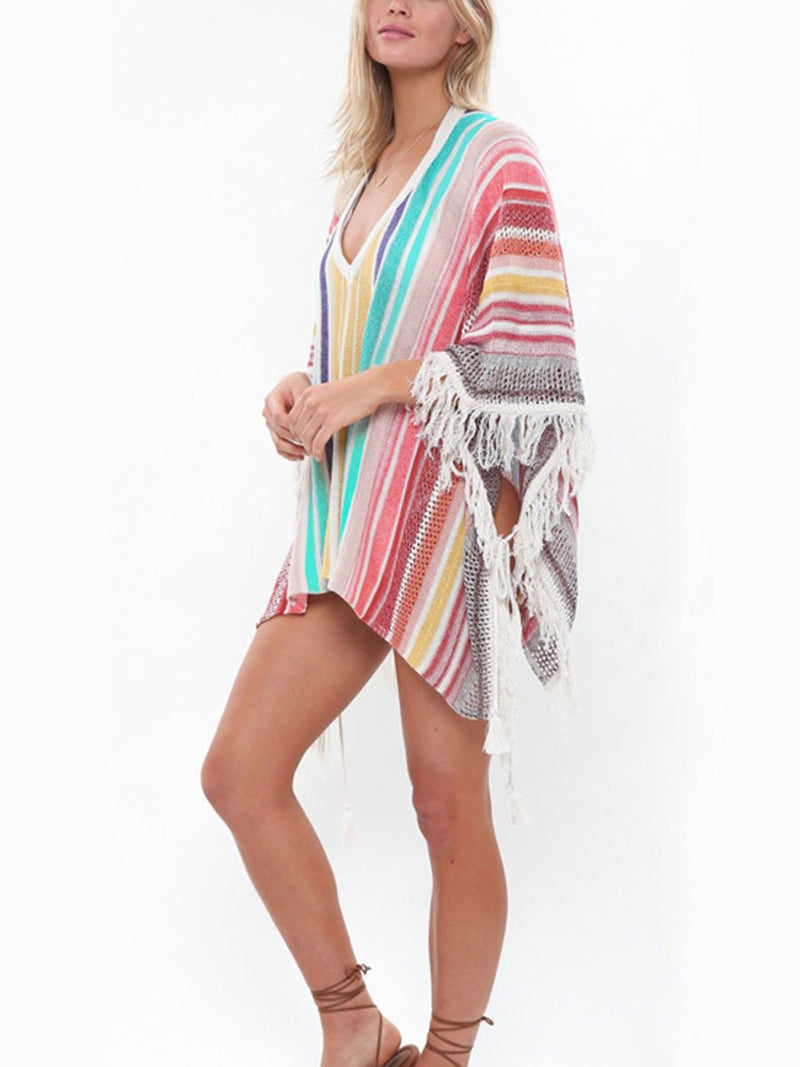 Fringed Sunscreen Cover-ups