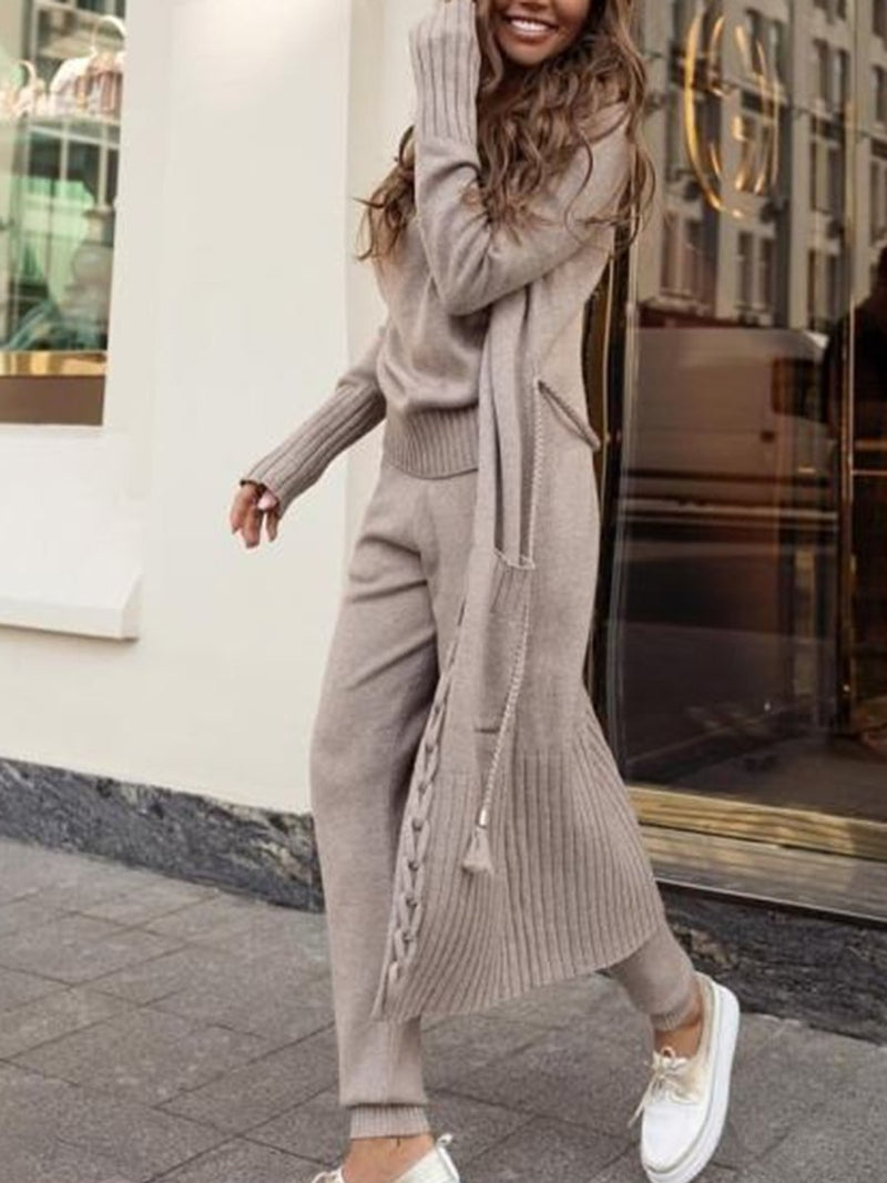 Knitted Three-Piece Suit Sets