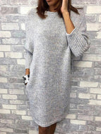 Caftan Pockets Shift Casual Knitted Dresses