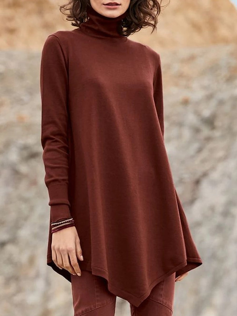 Long Sleeve High Collar T-shirt