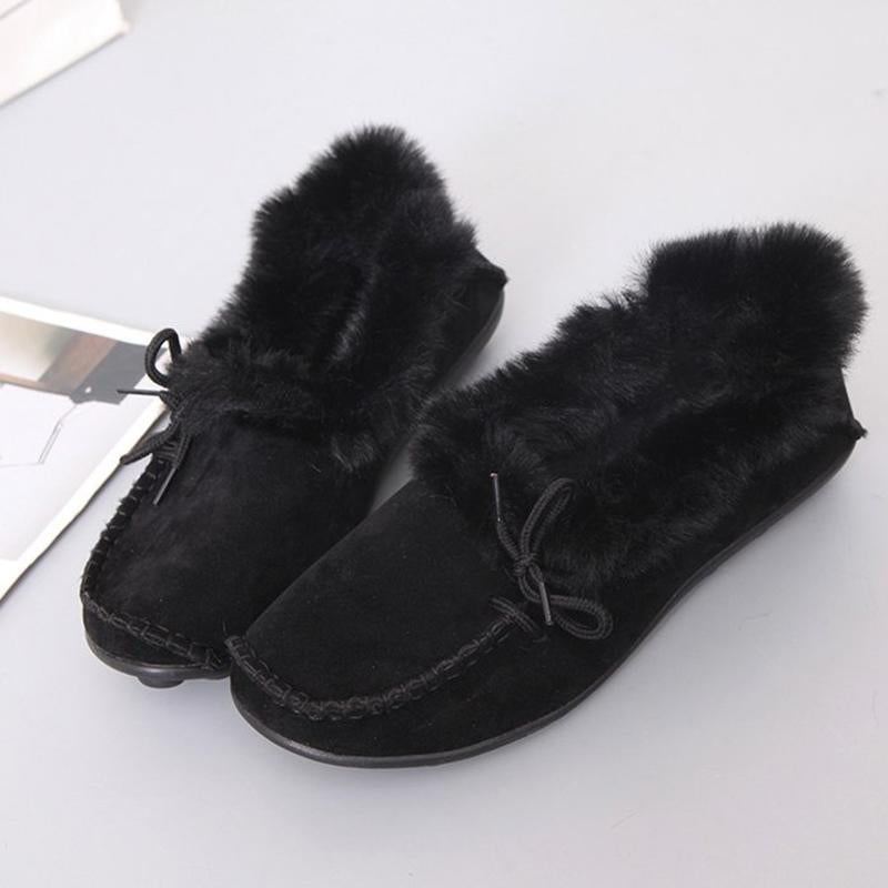 Women's Warm Fur Slip-On Flats & Loafers Plus Size
