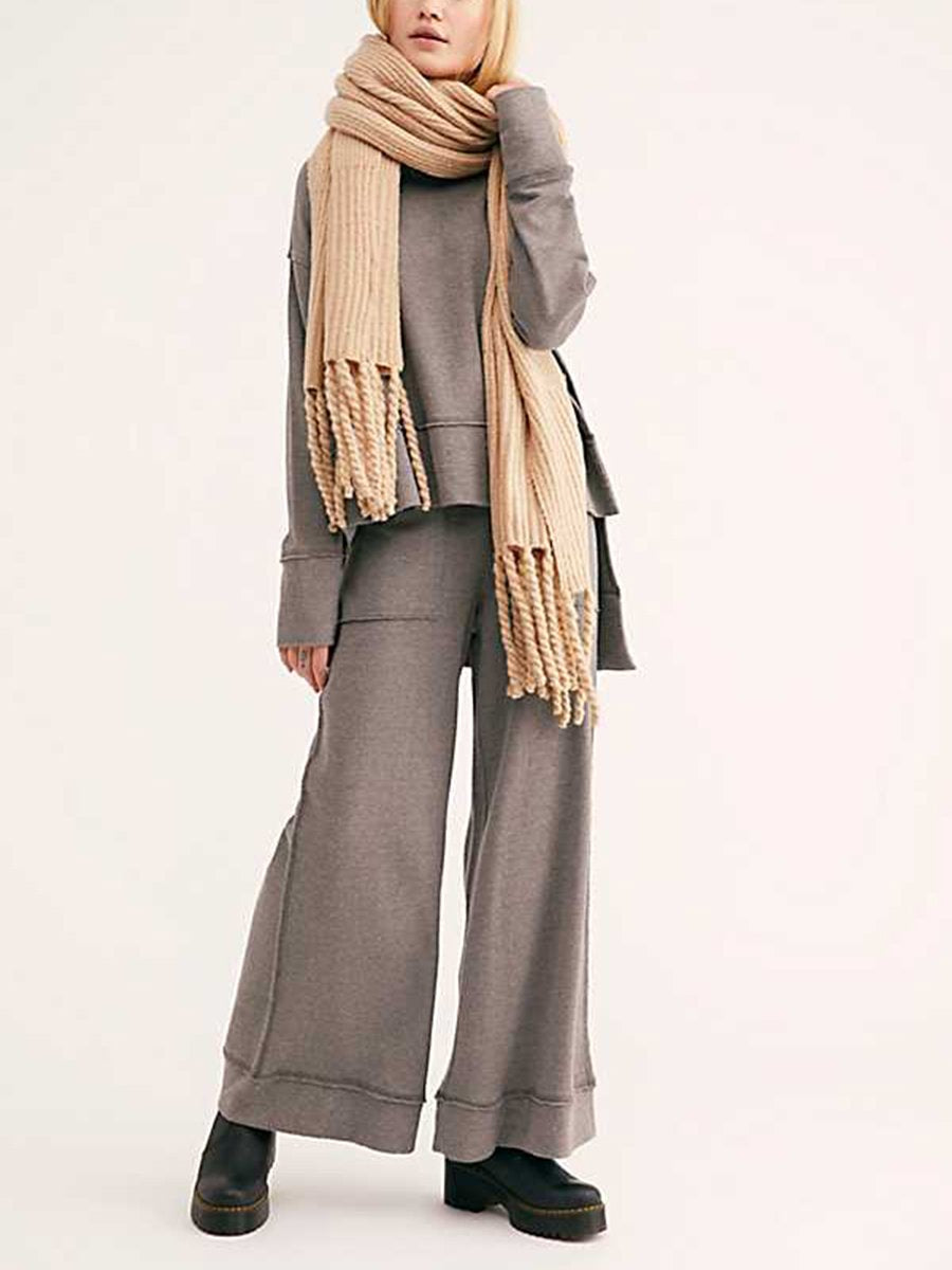 Stacked Collar Pullover Suit