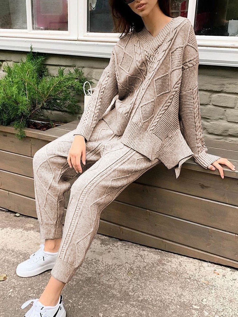 Two-piece Knitted Suit