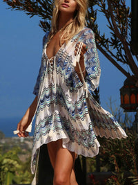 Loose Crochet Lace Beach Holiday And Casual Gown