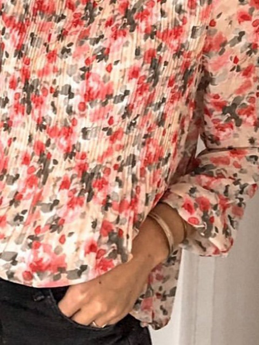 Women Floral Printed Casual Blouses