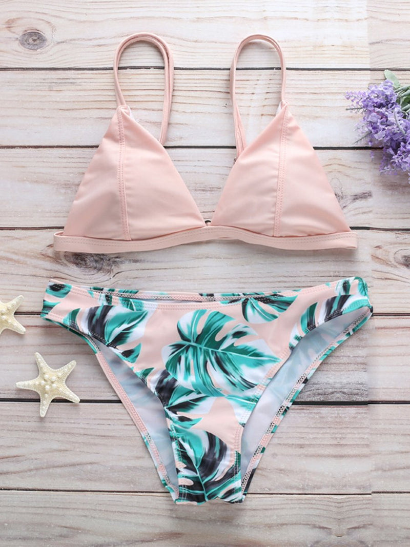 Sexy Fashion Print Two-Piece Bikini