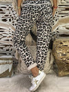 Fashion Leopard Loose Casual Straight Trousers