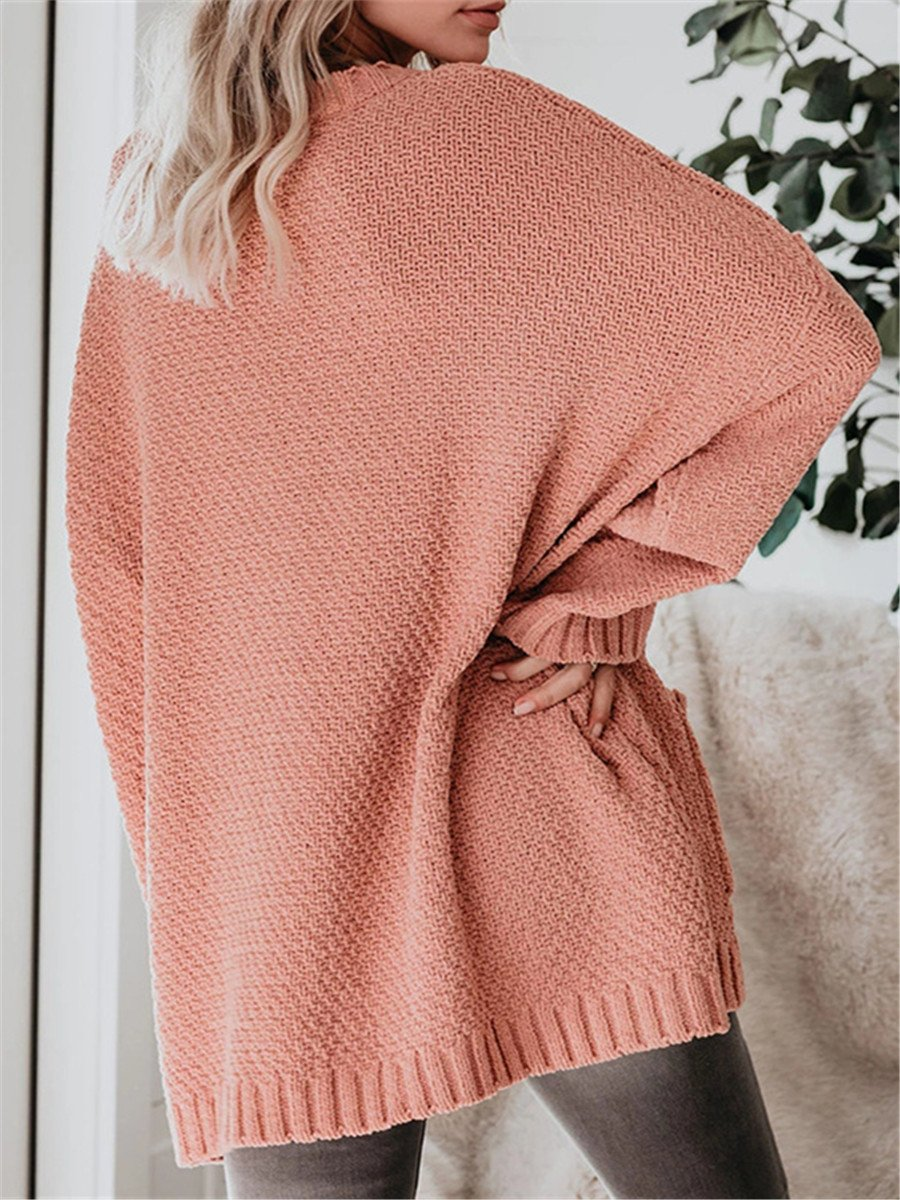 Fashion Simple Solid Color Loose Sweaters
