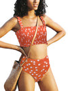 Sling Split High Waist Two-Piece Swimsuit