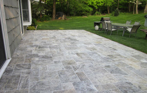 SILVER TRAVERTINE - UNFILLED, TUMBLED & HONED