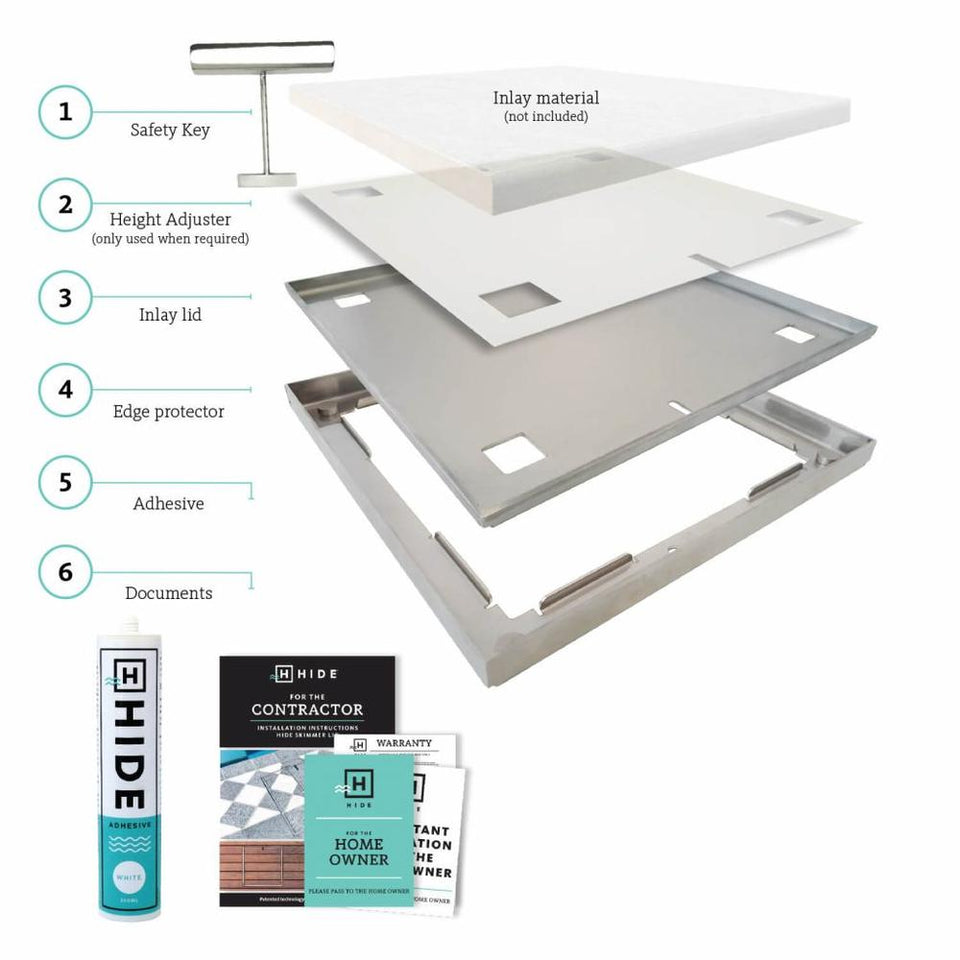 Skimmer Lid Kit & Drains Cover