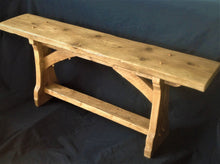 Load image into Gallery viewer, Rustic Wooden Bench