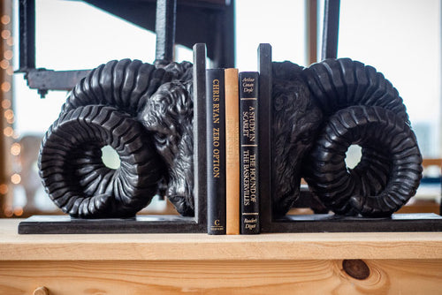 Ram's Head Bookend