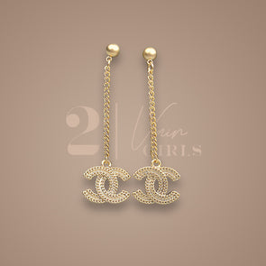 Long Dangling Gold Earrings