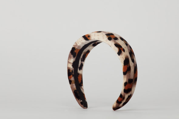 Animal Velvet Headband (Brown)