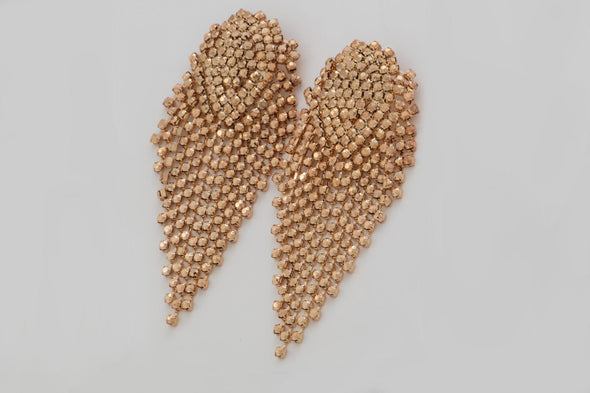 Rose gold Tassel Statement Earring (Rose & Gold)