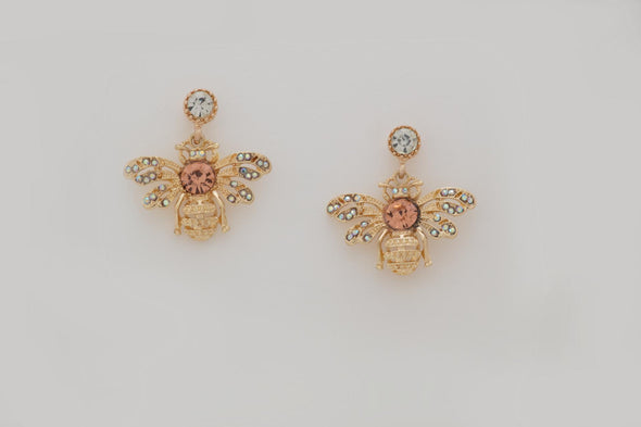 Jeweled Bee Studs Earrings