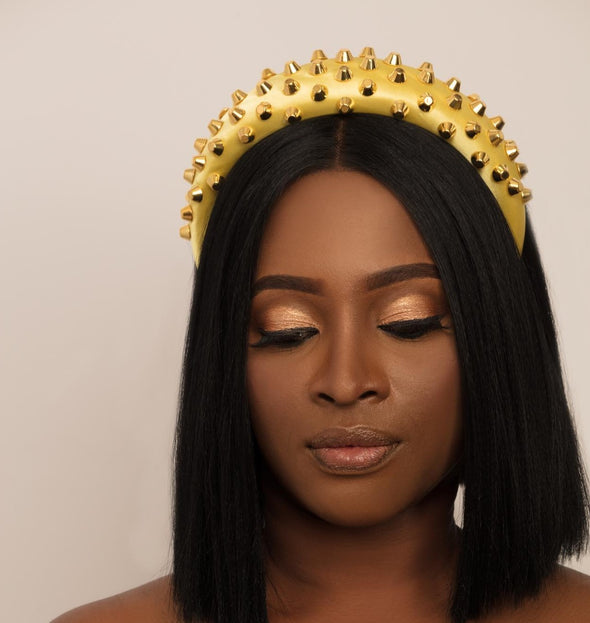 Yellow Baroque Spiked headband