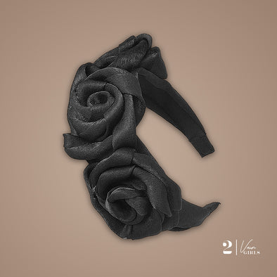 Rose Headband Black