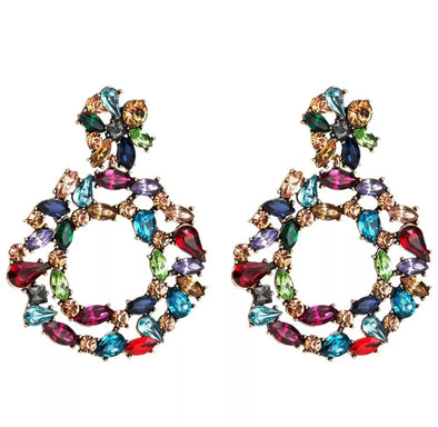 Bold Round Multi-colored Earring