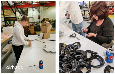 Airhead assembly of pollution masks