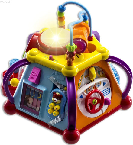 Educational Musical Activity Cube Play Center with Lights