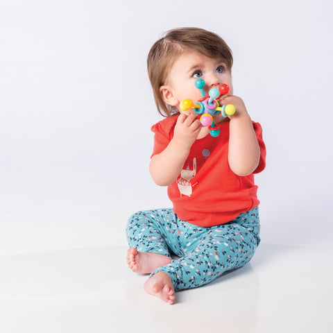 Atom Rattle & Teether Grasping Baby Toy
