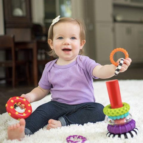 Stacks of Circles Stacking Ring STEM Learning Toy, 9 Piece Set