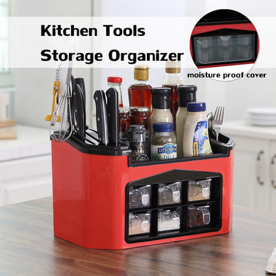 Multifunctional Storage Rack Seasoning Kitchen Containers Shelves