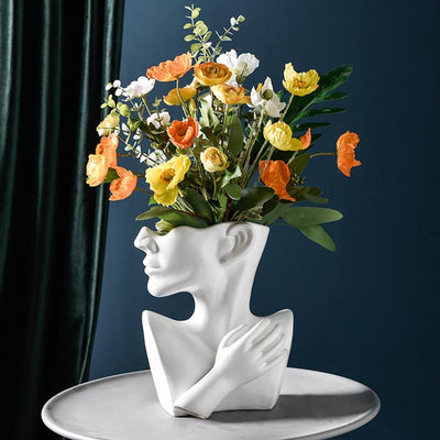 Human Face Abstract Flower Vase