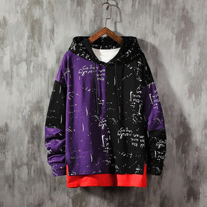 Dernier Cry Black & Purple Hoodie